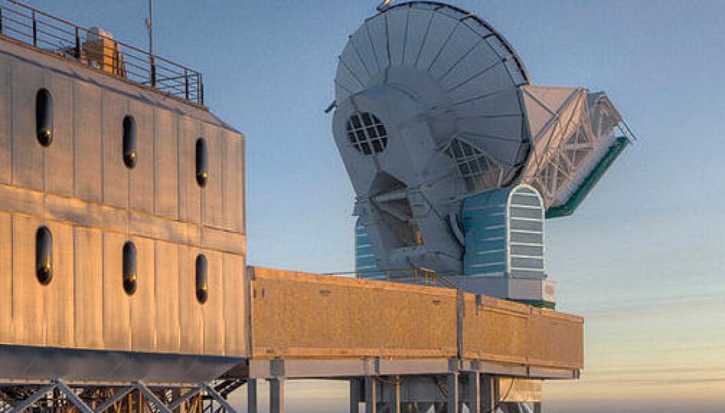 BICEP-2, instrumentet som oppdaget gravitasjonsbølger på Scott-Amundsen-sydpolstasjonen i Antarktis. National Science Foundation - Steffen Richter, Harvard University