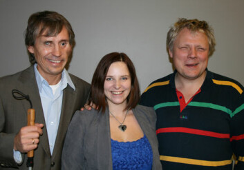Magne Lunde, Miriam Begum og Morten Tollefsen i MediaLT. (Foto: Norunn K. Torheim)