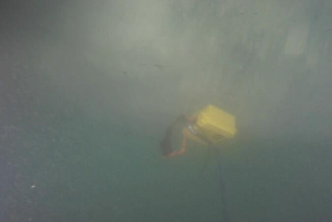 Isfjellet har veltet, og dette er det siste bildet som er tatt av måleinstrumentet. Siden har ingen sett det.