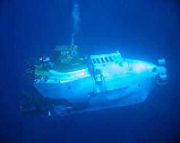 """""""Undervannsbåten Alvin. Foto: Mark Spear, Woods Hole Oceanographic Institution"""""""