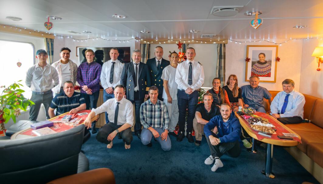 Jul ombord på Malik Arctica 2020