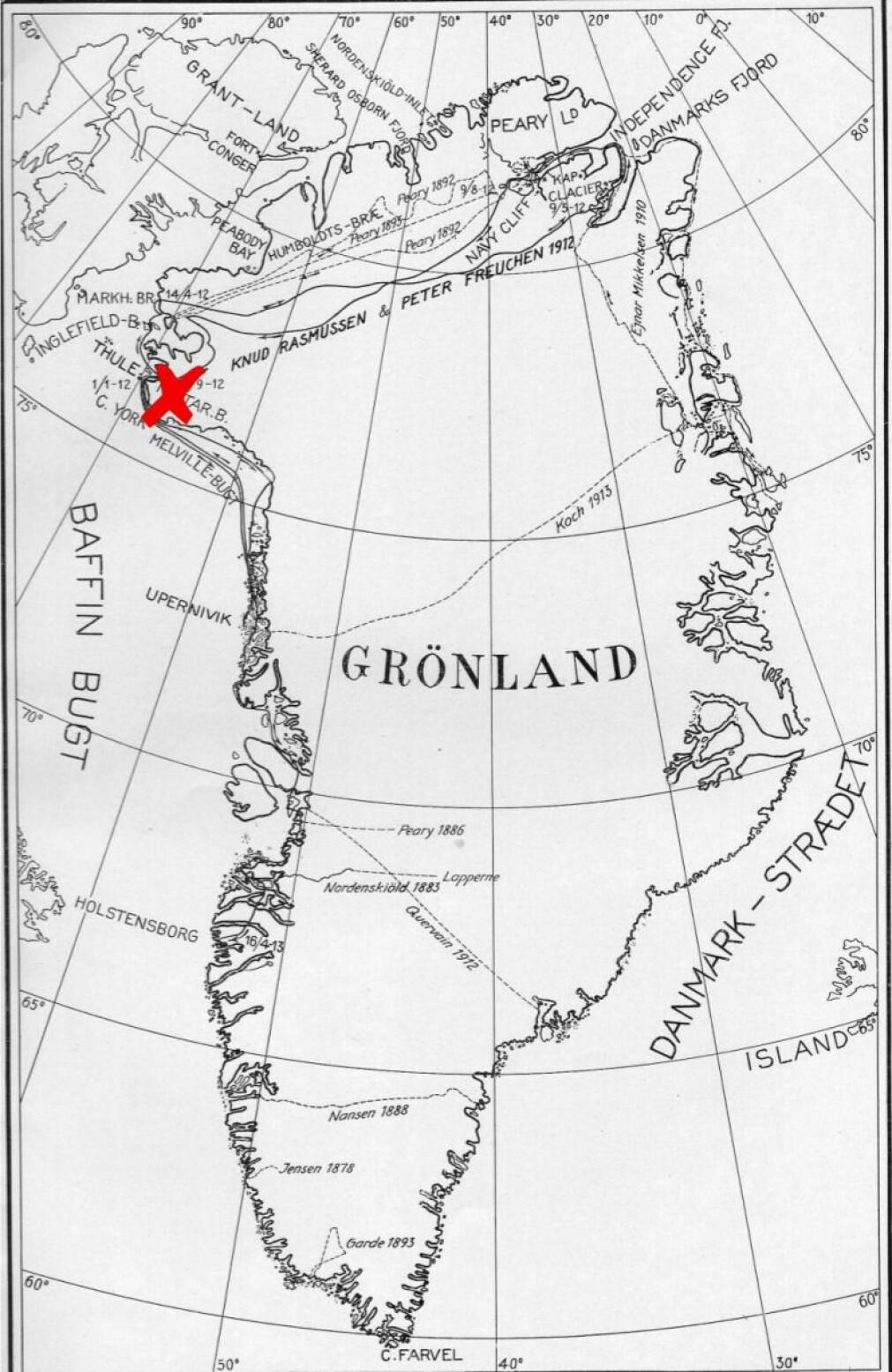 Reisen gikk til Moriusaq nord for Thule-basen, som fikk bygdestatus i 1962. På slutten av 2009 var det bare to beboere igjen, og i september 2010 flyttet den siste beboeren til Qaanaaq.