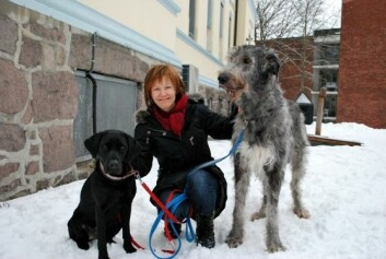 Randi Krontveit med Kiki og Nova. (Foto: Marit Stormoen)