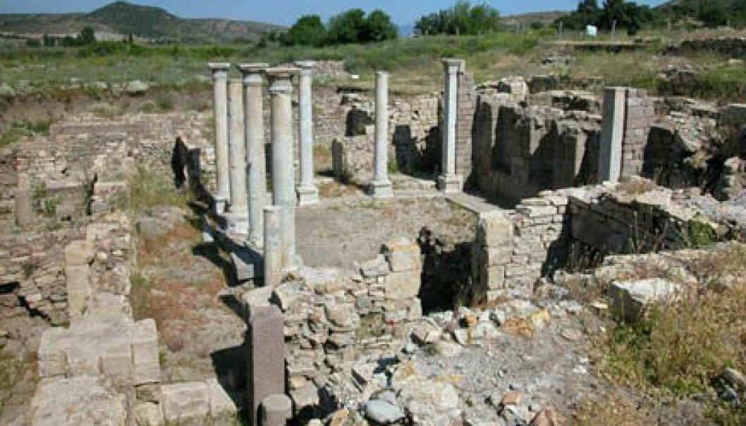 """""""Dette er bare en liten del av de romerske ruinene i Allianoi. (Foto: www.allianoi.org)"""""""