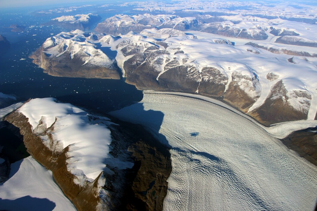 The Greenland ice sheet is the second largest ice cap in the world.