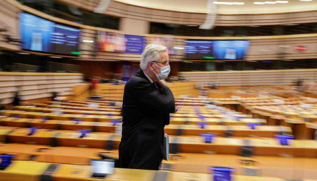 EU måtte håndtere flere kriser i 2020, blant annet at britene forlot EU og en global pandemi. Brexit-forhandler for EU er Michel Barnier.