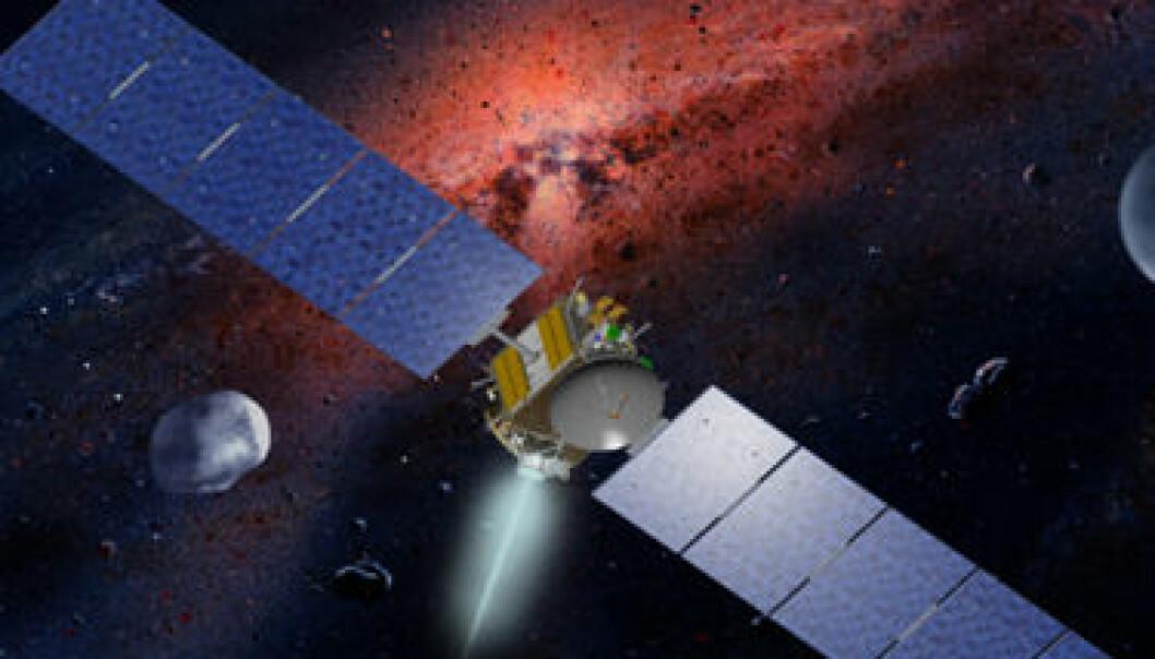 (Illustrasjon: NASA-JPL, WK Hartmann, UCLA)