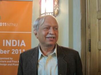 Dinesh Mehta sier at urbaniseringen av India ikke foregår like raskt som antatt (Foto: NTNU)