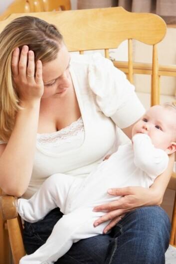 Å ha veldig klare forventninger til livet med en baby, og stort behov for kontroll, kan være en risikofaktor for å utvikle barseldepresjon. (Illustrasjonsfoto: www.colourbox.no)