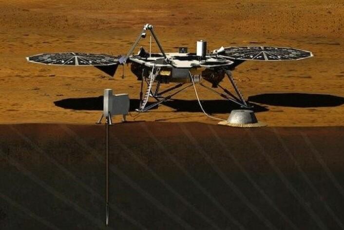 I 2016 skal NASA skyte landingskapselen InSight opp til Mars. Den skal blant annet studere hvor stor Mars kjerne er, hva den består av hvilken temperatur den har. (Foto: JPL/NASA)