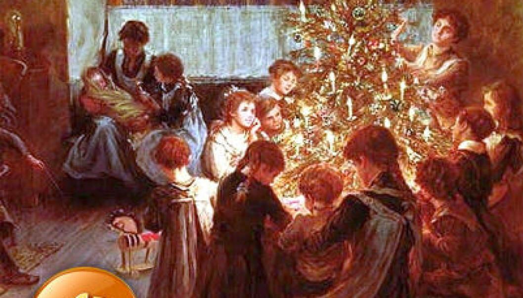 "(Maleri: <a href=""http://commons.wikimedia.org/wiki/File:Albert_Chevallier_Tayler_-_The_Christmas_Tree_1911.jpg"">Albert Chevallier Tayler</a>)"