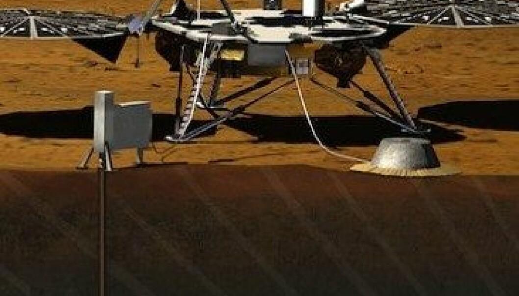I 2016 skal NASA skyte landingskapselen InSight opp til Mars. Den skal blant annet studere hvor stor Mars kjerne er, hva den består av hvilken temperatur den har. JPL/NASA