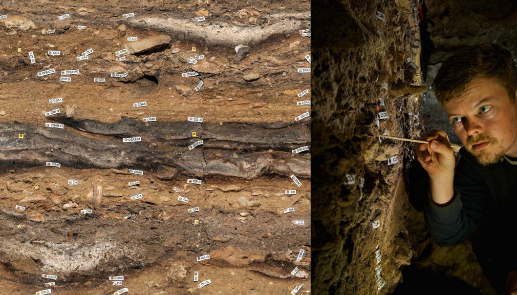 Forskere har merket spor etter våre forfedre. Denne hulen er som en tidsmaskin, der fragmentene er godt bevart.