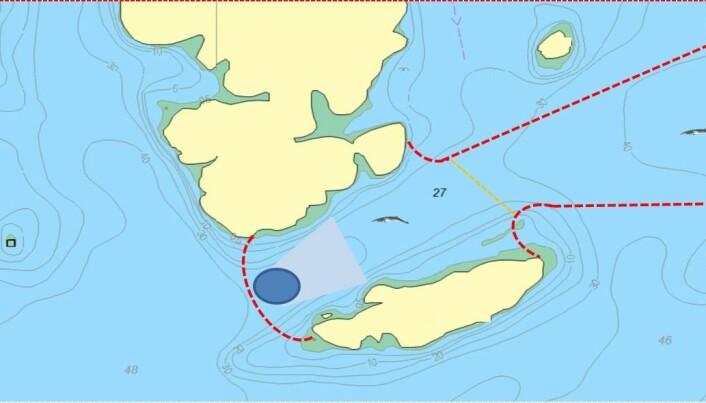 Vågevalen som skal hørseltestes sperres inne 200 meter langt, 150 meter bredt og 20 meter dypt basseng i to dager før de slippes fri.