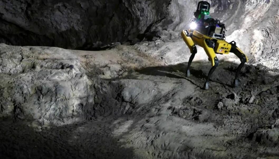 Flink Mars-hund! Her er robothunden Au-Spot. Forskere vil sende den til Mars for å utforske huler.