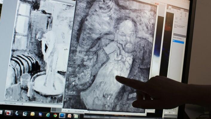 Takket være ny teknologi har forskerne i detalj fått greie på hva som skjuler seg under maleriet. (Foto: Evan Vucci/AP)