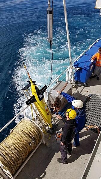 Glideren er en selvgående målerobot som tråler vannmassene