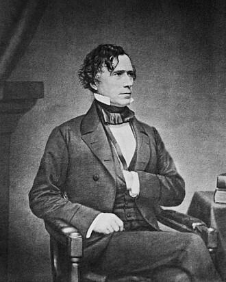 Franklin Pierce var full og trist. Det siste av gode grunner.