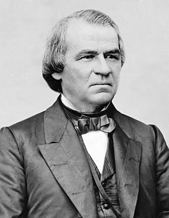 Andrew Johnson var Lincolns parhest, men brydde seg fint lite om fargedes rettigheter.