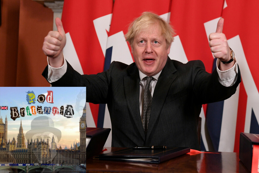 Storbritannias statsminister Boris Johnson er fornøyd etter å ha undertegnet handelsavtalen med EU på tampen av året.