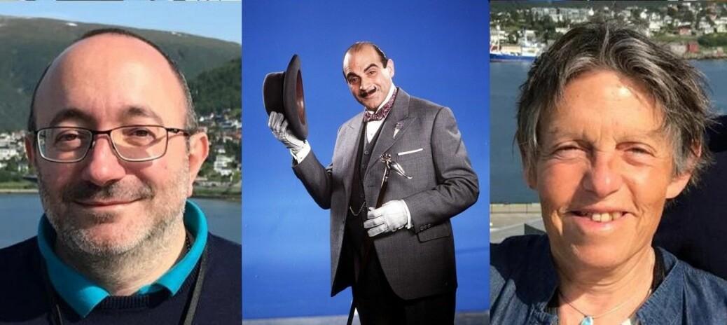 Michele Cascella (til venstre) og Odile Eisenstein (Til høyre) ble inspirert av Agatha Christies mesterdetektiv Hercule Poirot i «Mord på Orientekspressen» da de skulle oppklare det 120 år gamle Grignard-mysteriet.