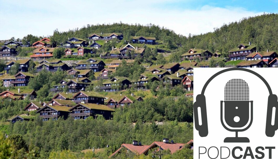 Mange steder i Norge er det tett med hytter. Bildet er fra Beitostølen.