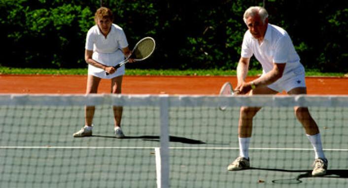 """""""Å svinge tennisrekkerten kan gi gode bidrag til den fysiske formen."""""""