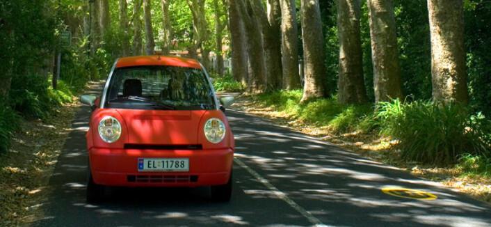 Elbilen Think bruker ZEBRA-batterier, som er utviklet i Sør-Afrika. Her er en Think-bil fotografert i nettopp dette landet. (Foto: Think)