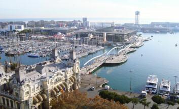 Del av havneområdet i Barcelona. (Foto: Colourbox)