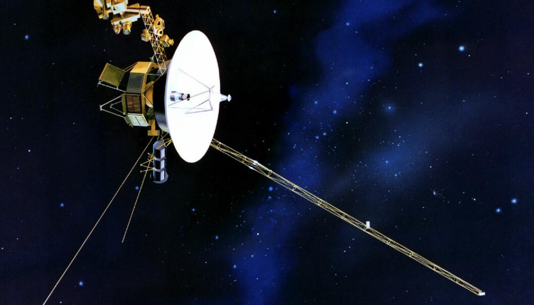 Voyager-romsonden. Voyager 1 og Voyager 2 er identiske. (Illustrasjon: NASA)