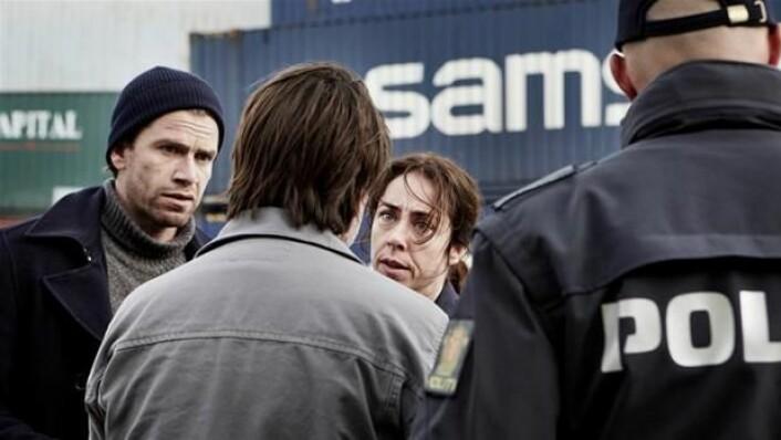 Scene fra Forbrytelsen. Sofie Gråbøl spiller Sarah Lund. Manusforfatter er Søren Sveistrup. (Foto: Tine Harden/Danmarks Radio)