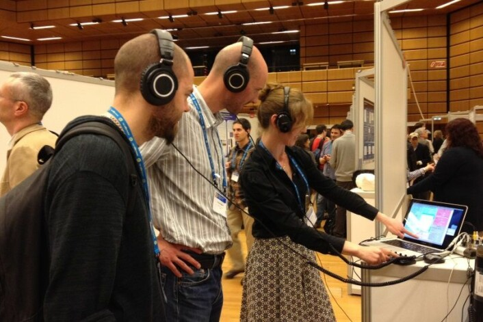 Det var stor interesse for Mair/Barretts prosjekt på European Geoscience Union Conference i Wien nylig. (Foto: Gunhild M. Haugnes)