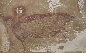 Forskere hevder å ha funnet det eldste dyremaleriet laget av moderne mennesker