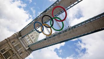 OL-ringer på plass i London. (Foto: Aurélien)
