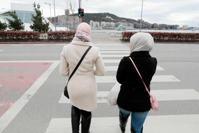I de to Facebook-gruppene tegnes et bilde av muslimske kvinner som undertrykte, men det gis uttrykk for at de har valgt det selv.