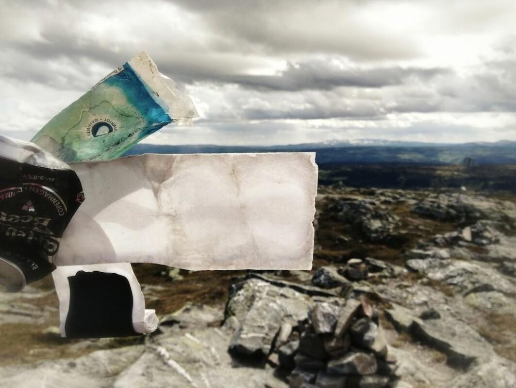 Søppel skribenten fant på Skeikampen i Gausdal