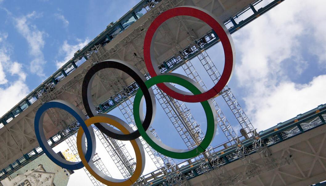 OL-ringer på plass i London. Aurélien