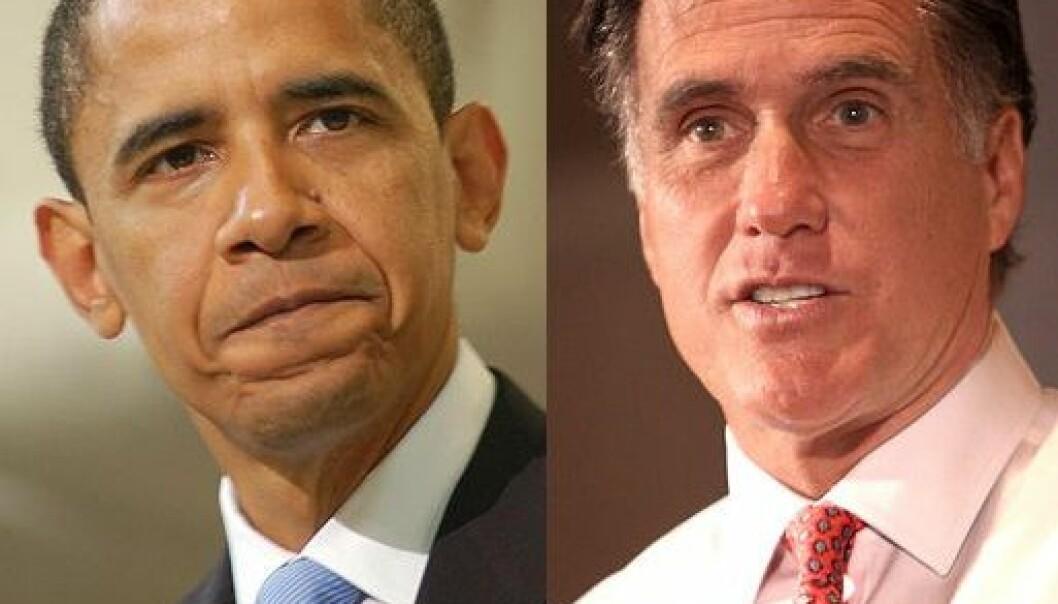 Barack Obama og Mitt Romney kjemper om å bli USAs neste president. Elizabeth Cromwell/Gage Skidmore/Wikimedia Creative Commons