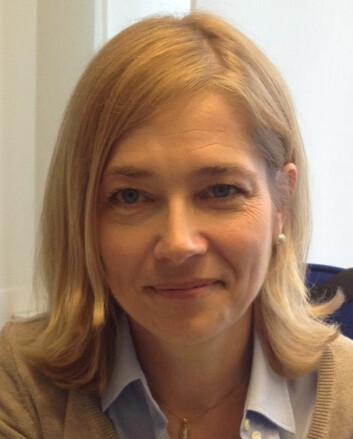 Annika Angelii Genlott, forsker og utvikler ved Örebro universitet og Sollentuna kommune, har studert barns skrive- og leseopplæring på nettbrett og melder om gode resultater.  (Foto: Örebro Universitet)