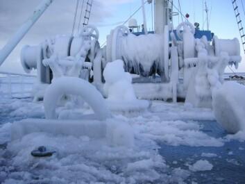 Is og kulde gir økt risiko for forfrysninger og andre belastninger. Ny teknologi kan varsle når kroppen har fått nok. (Foto: Ragnhild Lundmark Daae)