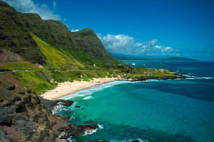 Hawaii ble, i langt høyere grad en man har trodd, formet av flytende lava, viser ny studie. (Foto: Colourbox)