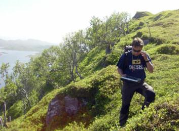 Henrik Schiellerup er klar for digital kartlegging i Vesterålen. (Foto: Børre Davidsen/NGU)