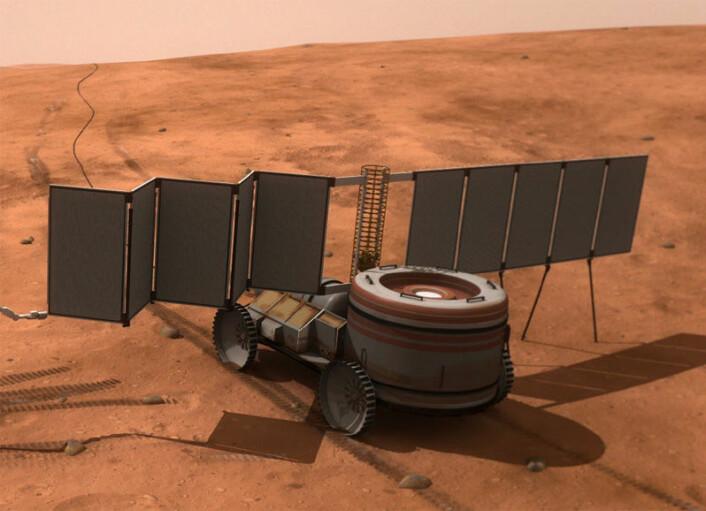 Atomkraftverk til bruk på Mars (Foto: (Illustrasjon: NASA))