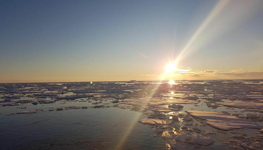 Natt i Antarktis: Perfekte forhold for CTD (instrumentmålinger av havet) på den siste nattmålingen vår for noen dager siden.