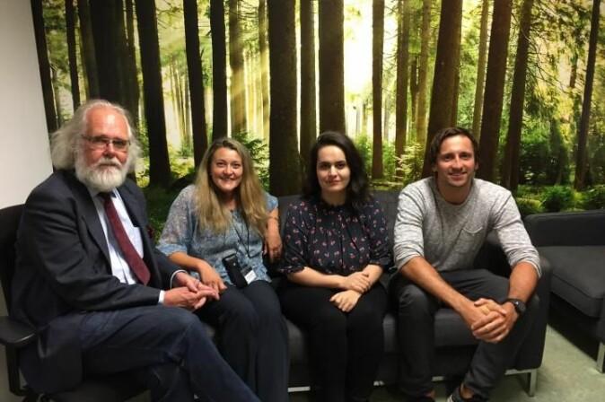 Nils Chr. Stenseth har forsket på pest i 20 år. Her er han sammen med noen av kollegene ved CEES: Barbara Bramanti, Meriam Guellil og Oliver Kersten.
