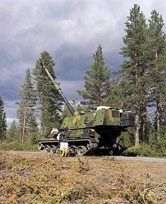 Kanonen som testskyter langdistanseartilleriet med rekkevidde på 40 kilometer.