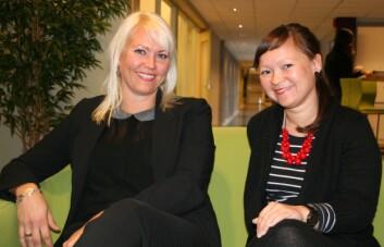Anni Skipstein og Wendy Nilsen har forsket på mødre og barns psykiske helse. (Foto: Elin Fugelsnes)