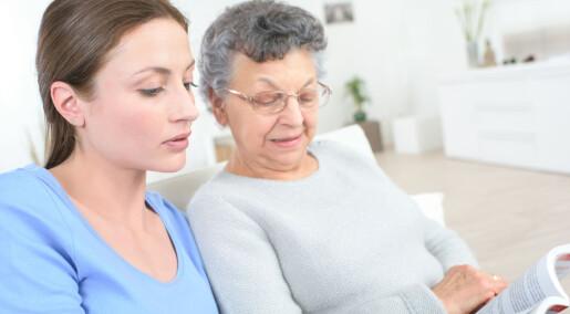 Kommunen risikerer at frivillige hjelpere i demensomsorgen går lei og slutter