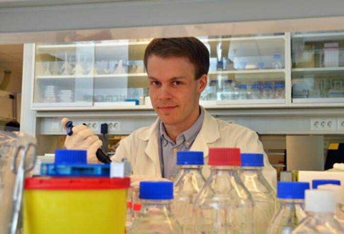 Stipendiat Torbjørn Pedersen ved UiB. (Foto: Rune D. Haakonsen)