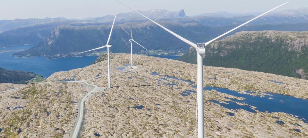 Rekordhøy vindkraftproduksjon i fjor
